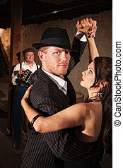 Handsome Tango Dancer with Partner - Handsome Tango dancer...