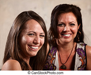 Two Pretty Women Laughing