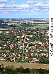 Aerial view of city - Ecological city Goerlitz, in Germany...