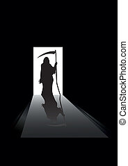 Grim reaper - vector illustration of Grim reaper silhouette...