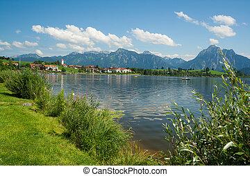 Lake Hopfensee in Bavaria - Germany
