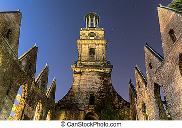 Aegidienkirche, Hannover, Germany - Aegidienkirche in moon...