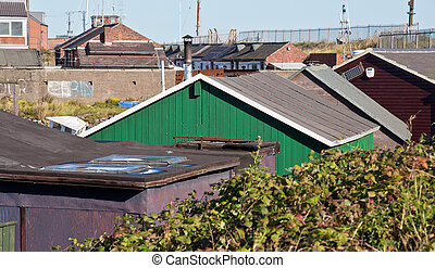 Gare Rooftops - View along the rooftops of Paddys Hole,...