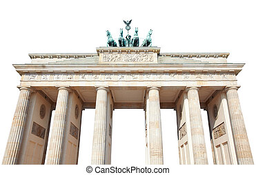 Brandeburg gate, Berlin, isolated on white, clipping path...