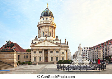 Gendarmenmarkt, Berlin - Gendarmenmarkt, French Cathedral or...