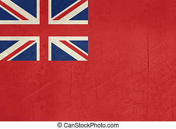 Grunge British Merchent Navy Ensign for civilian fleet