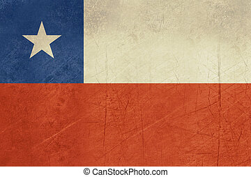 Grunge Chile Flag - Grunge sovereign state flag of country...