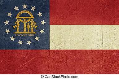 Grunge Georgia state flag