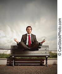 Relax elevation - Elevation of a businessman in relax