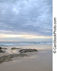 Dawn on Currumbin Beach 2 - Dawn on the Beach near...