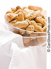 peanut - Foodstuff theme:  peanut on the glassy bowl
