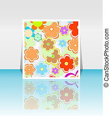 Design background of spring flowers brochure. Birthday, easter