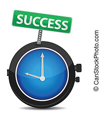Time for success illustration design