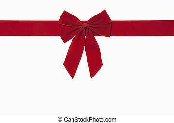 Red Christmas Bow - Red christmas bow, includes clipping...