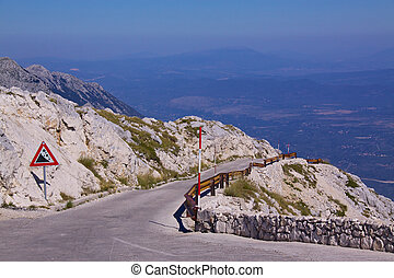 Mountain road in Croatia - Road across picturesque nature...
