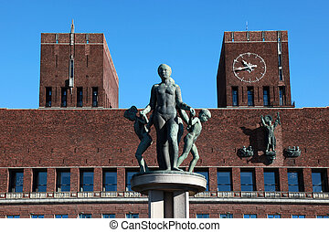 Oslo City Hall - The City Hall Radhuset in Oslo, the capital...