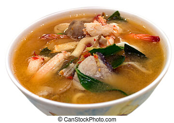 Spicy Mixed Seafood Soup