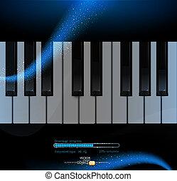 鋼琴, 矢量, 鍵盤