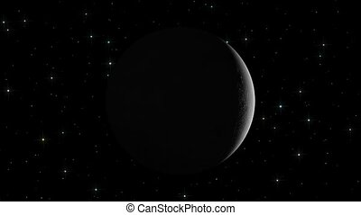 Moon phases on a star field background