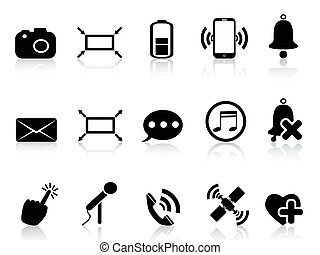 simple smartphone icons set