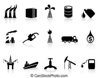 oil industry icon - isolated oil industry icon from white...