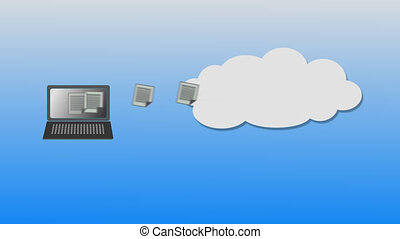 Cloud computing - Docs uploaded to virtual storage also...