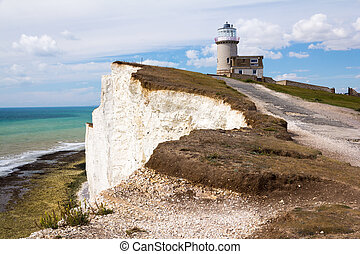 Belle Tout Lighthouse at Beachy Head near Eastbourne East...