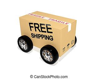 Free shipping cardboard