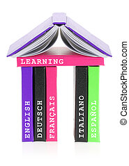 Languages school made of books
