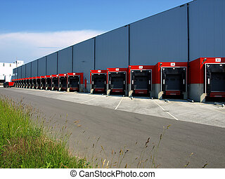 Red loading docks - Red loading docks waiting for action...