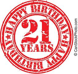 Grunge 21 years happy birthday rubb