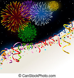Celebration card - Holiday Background Illustration, Vector