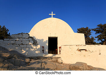 Monolithos Castle Church - The Chaple situated within...