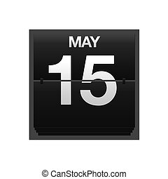 Counter calendar may 15. - Illustration with a counter...
