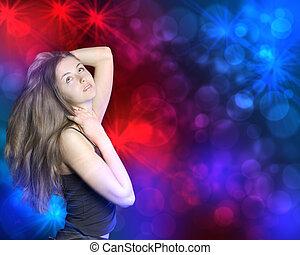 woman dancing in the nightclub