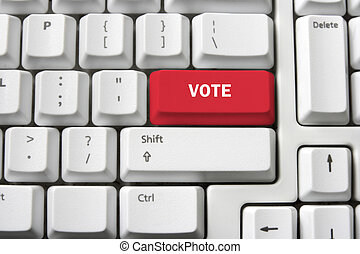 Voting Concept with Keyboard