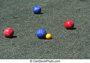 Blue bocce ball scores
