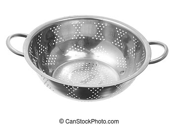 Strainer on White Background