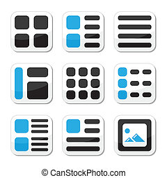 Website display options icons - Displaying thumbnails of...