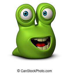 3d cartoon cute cute slug