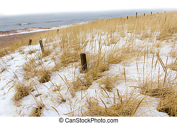 Winter Beach at Minnesota Point, Lake Superior