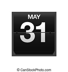 Counter calendar may 31. - Illustration with a counter...