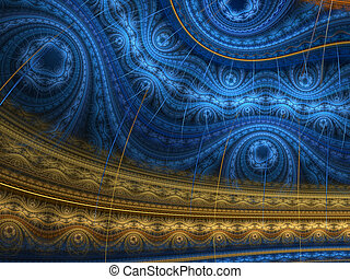 Oriental Rug - Stylish fractal abstract