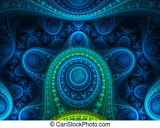 Blue Jewel - An abstract fractal.
