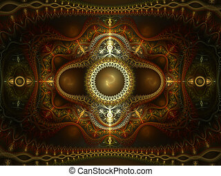 Oriental Rug - Abstract fractal of an oriental rug.