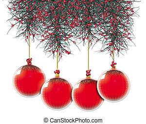 Christmas Balls Red Dot