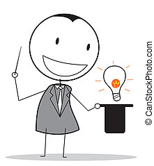 magician businessman idea