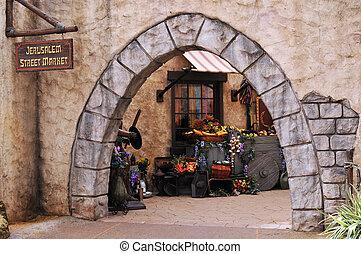 Jerusalem Street Market - A Jerusalem Street Market entry...