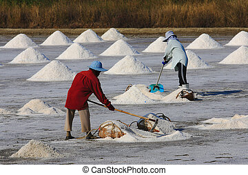 Salted worker in Thailand