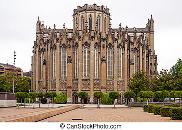 Rear facade of the cathedral of Vitoria